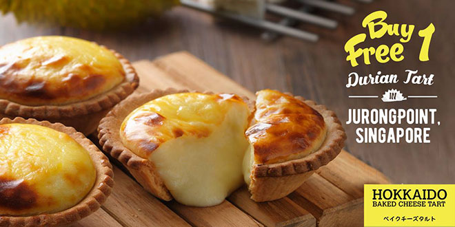 Hokkaido-Baked-Cheese-Tart-offers-1-for-1-Durian-Tarts-18-feb-2017