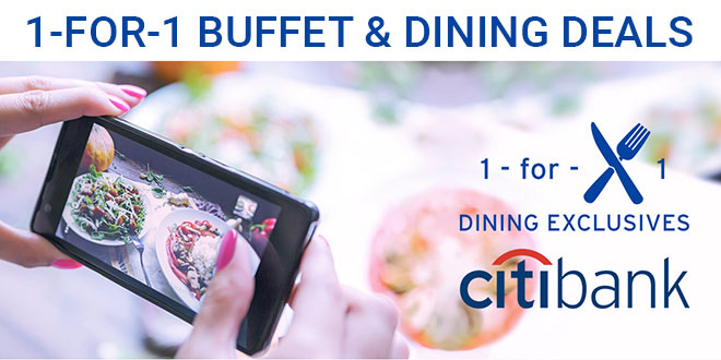 Citibank 1-for-1 buffet promotions