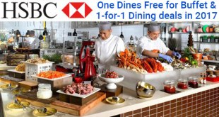 HSBC buffet promotions and 1 for 1 dining deals 2017