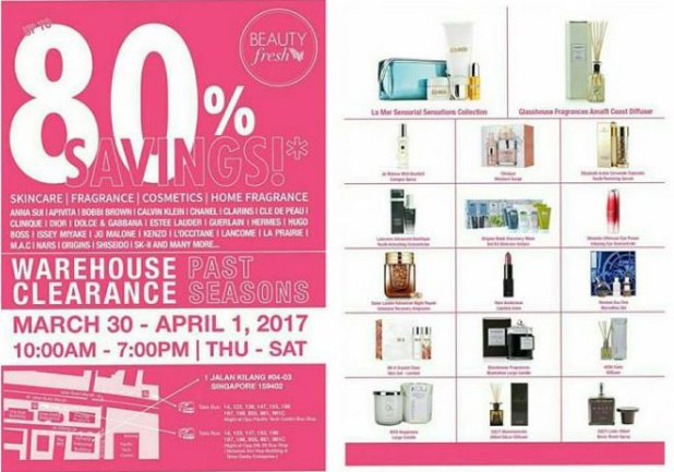 Simex Asia Pacific Warehouse Sale on skincare fragrances cosmetics