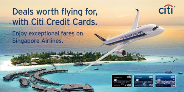 Singapore Airlines promo for Citi cards