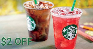 $2 off at Starbucks