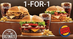 Burger King 1 for 1 deals for UOB cards