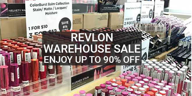 Revlon warehouse sale in Singapore