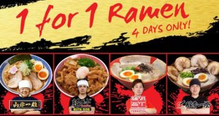 Ramen Champion offers 1-FOR-1 ramen