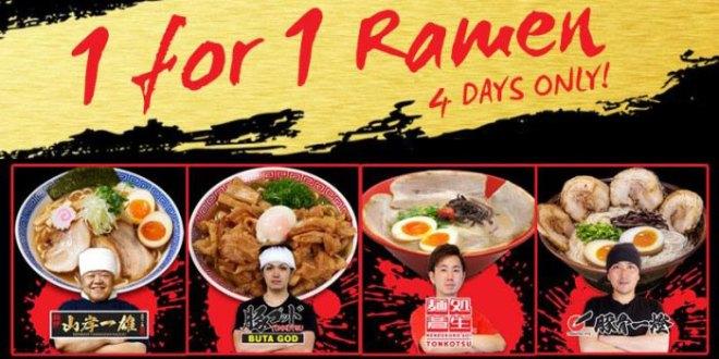 Ramen Champion offers 1-FOR-1 ramen