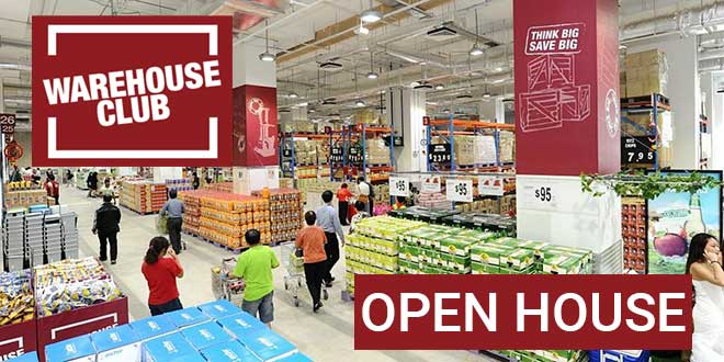 NTUC FairPrice Warehouse Club Open House NO Membership Required