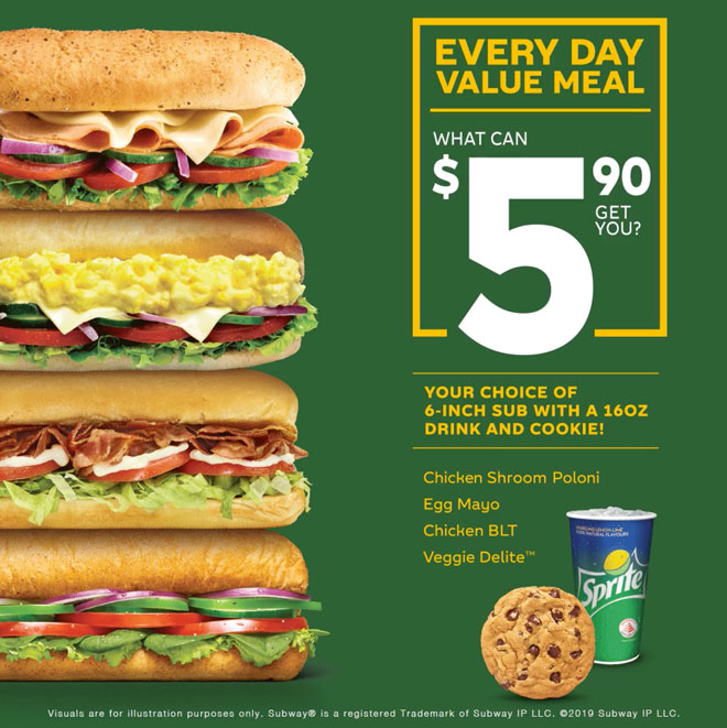More About Subway Coupons