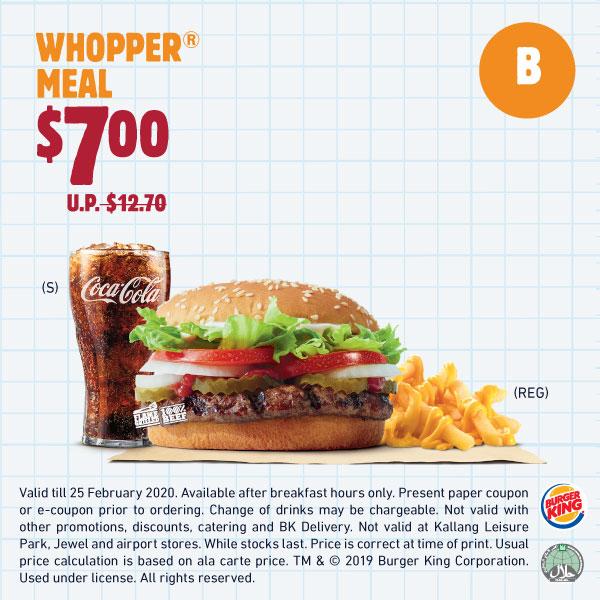 Burger King eCoupons till 25 Feb 2020