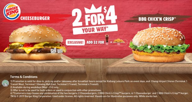 2 For $4 deal at Burger King
