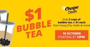 $1 bubble tea deals at ChopeDeals