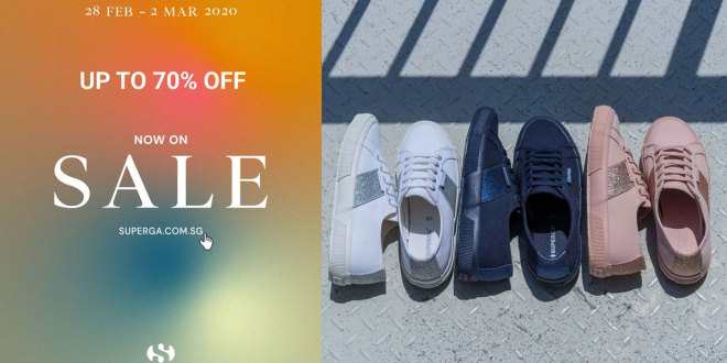 Superga's promotions - Up to 70% OFF 25 Feb 2020