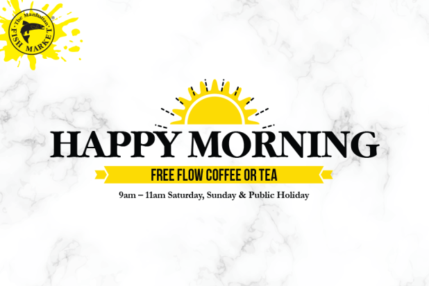 Free flow coffee or tea at The Manhattan FISH MARKET Singapore