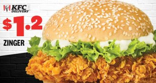 $1.20 Zinger at KFC 12.12 deals 2019