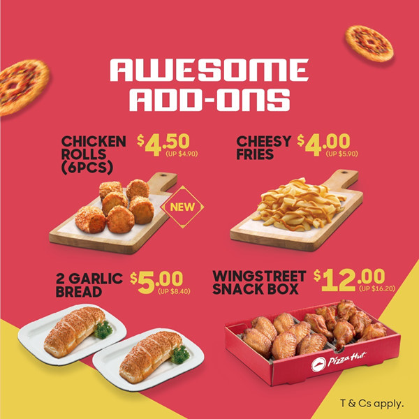 Pizza Hut Shuper Huat Deal: Awesome Add-ons