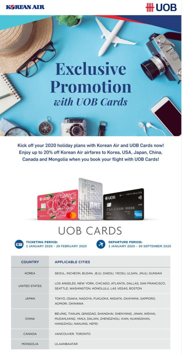 UOB cardmembers offer: 20% OFF