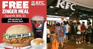 FREE Zinger Meal at KFC