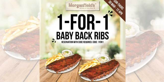 Morganfield's Promotion: 1-for-1 Baby Back Ribs!
