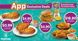 Popeyes App Exclusive Deals on Apr 2020