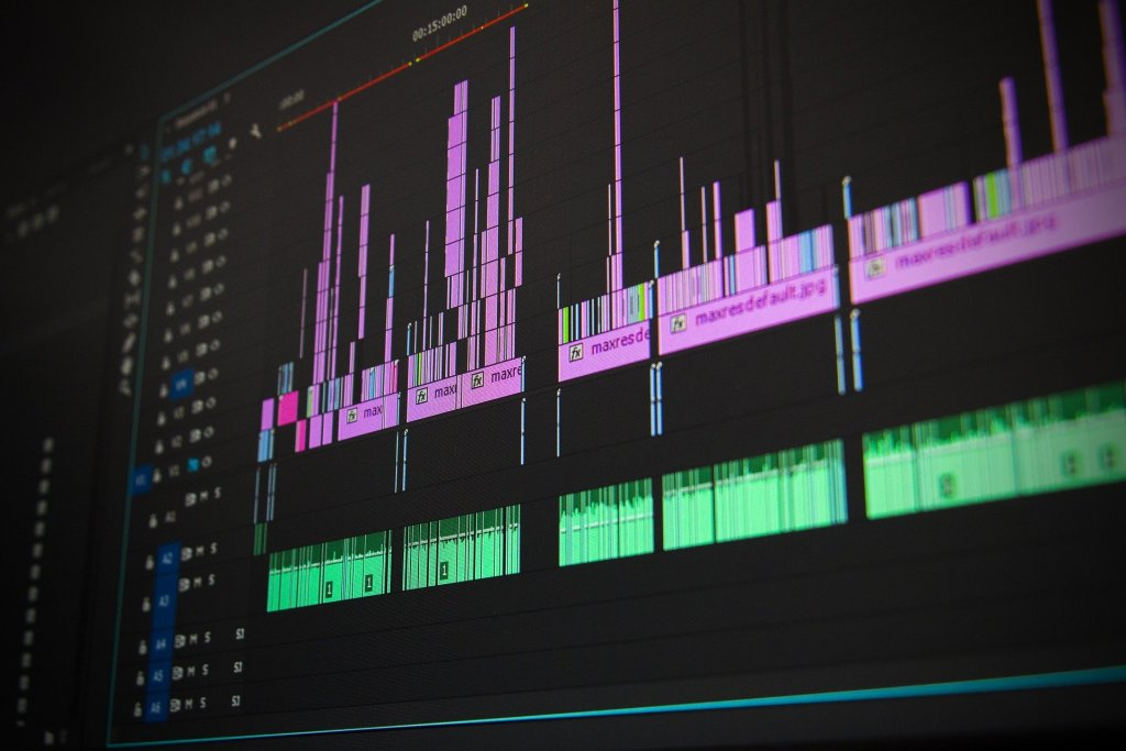 Picture of video and audio editing software