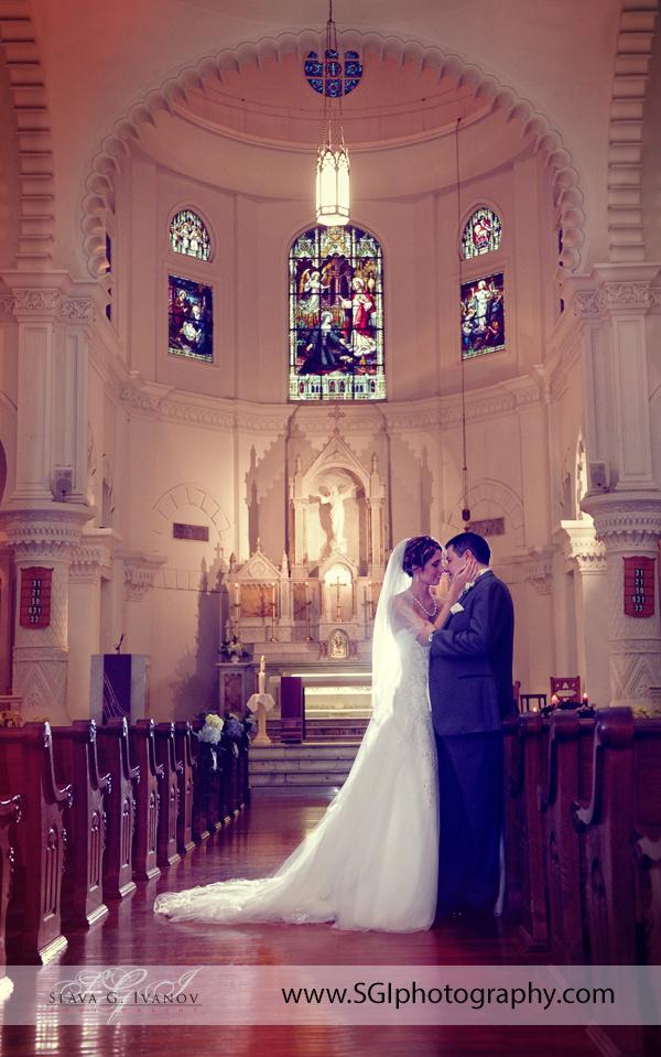 Sacred Heart Church  Galveston Wedding Photography