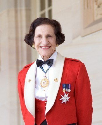 Her Excellency Professor Marie Bashir in military uniform, Copyright NSW Governors Office.