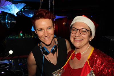 (L-R) Our resident DJ Amanda Louise