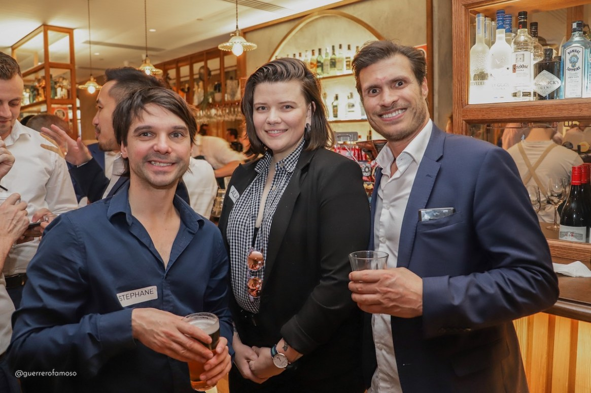 Stephane Champagne SGLBA member, Alannah Hailey of Mission Australia and Steven Yannicos of Barhead