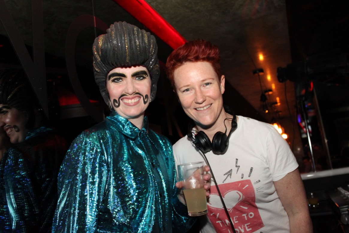 (L-R) Drag King Antonio Mantonio & DJ Amanda Louise.