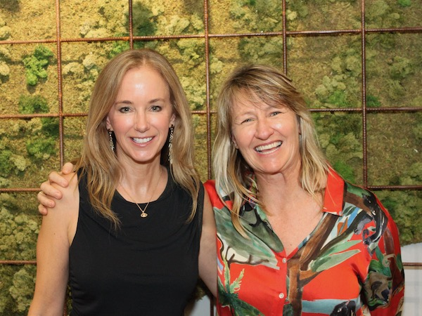 Book launch with US author Julian Guthrie (L) presented in part with our event partner, Atlassian. Cath Pope - (R).