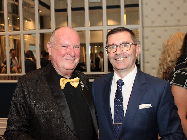 SGLBA Life Members Anthony Venn-Brown (L) and Mark Haines (R) attend The Education Fund Launch Dinner in conjunction with our Event Partner Dolton House, Hyde Park.
