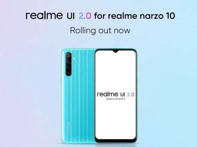 Realme UI 2.0 (Android 11) is officially available for Realme Narzo 10