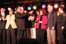 Lou and Howard Hildreth join the Creekside Gospel Music Convention choir