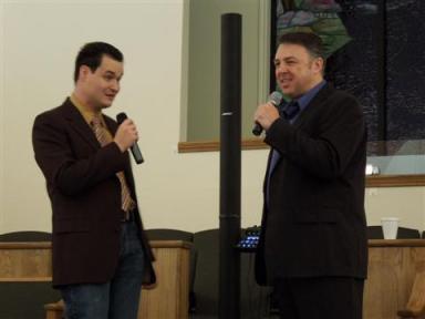 Miles Pike and Mark Bishop. Photo courtesy of Kimberly Pike