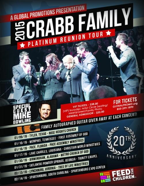 Crabb Family Pltunum Reunion Tour