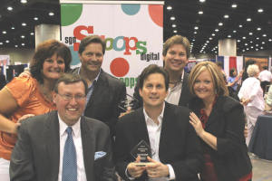 Scoops staff with Booth Brothers