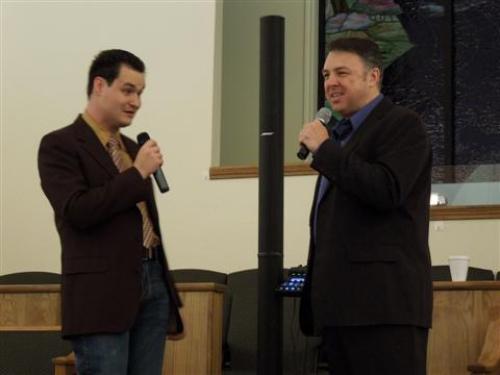 Miles Pike and Mark Bishop photo Kimberly Pike
