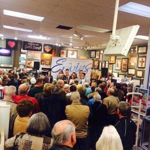 Fans gathered at the Lifeway Christian Store in Mesquite, TX for a release party with The Erwins