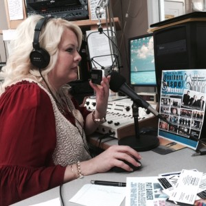"""Vonda Easley doing her show """"Strictly Southern with Vonda Easley"""""""