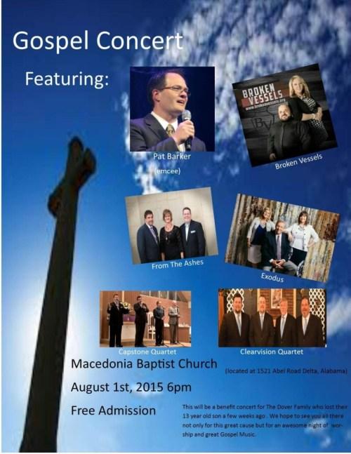 Gospel Concert For Steve and Metha Dover
