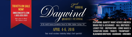 DMG Concerts Announces Plans for 2nd Annual Daywind Quartet Festival At The Greenbrier