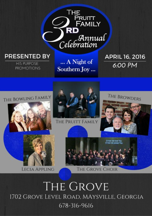 The Pruitt Family's 3rd Annual Celebration, A Night of Southern Joy