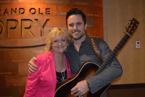 """Best-selling comedian Chonda Pierce and Charles Esten, star of CMT's hit television series, """"Nashville,"""" backstage at the Grand Ole Opry®."""