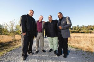 Kevin Mills with Keepers of the Faith quartet