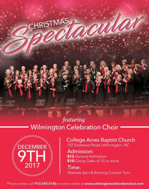 WILMINGTON CELEBRATION CHOIR PRESENTS ANNUAL CHRISTMAS SPECTACULAR CONCERT