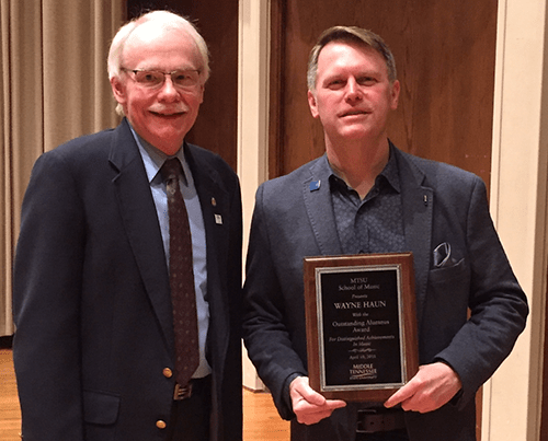 Wayne Haun Honored with Middle Tennessee State University's Distinguished Alumnus Award