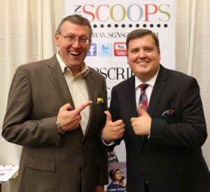 Rob Patz and Richard Hyssong at SGNScoops booth, NQC 2018