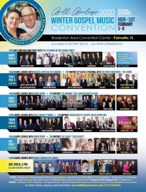 Bill Bailey's 2020 Winter Gospel Music Convention