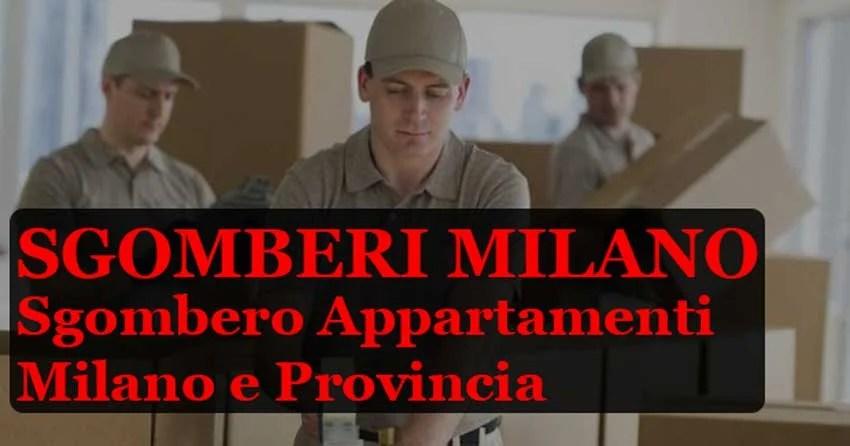 Sgomberi-Milano e Provincia-Prezzi-Convenienti