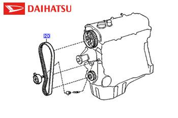 Genuine Timing Belt Daihatsu 1997-2008 1.3 (85 bhp) Petrol